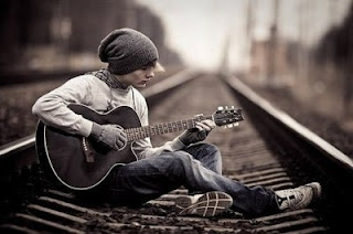 Handsome Boys Whatsapp DP with Guitar, Whatsapp Profile Pictures