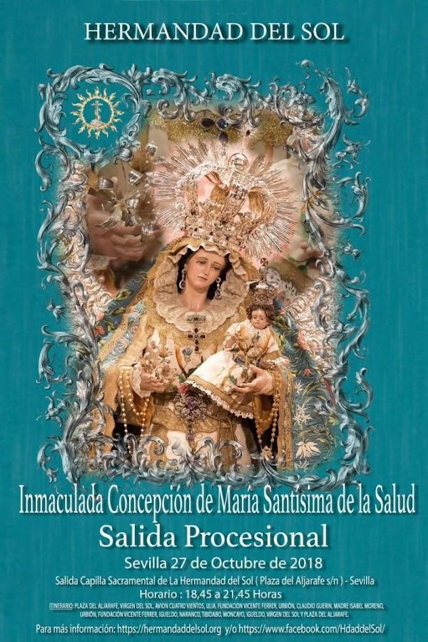 Cartel de la procesión de Ntra. Sra. de la Salud