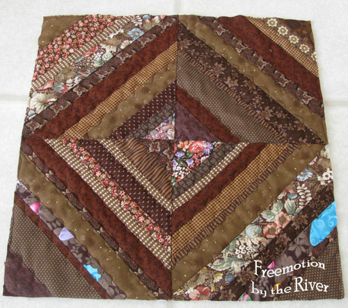 Brown string quilt block