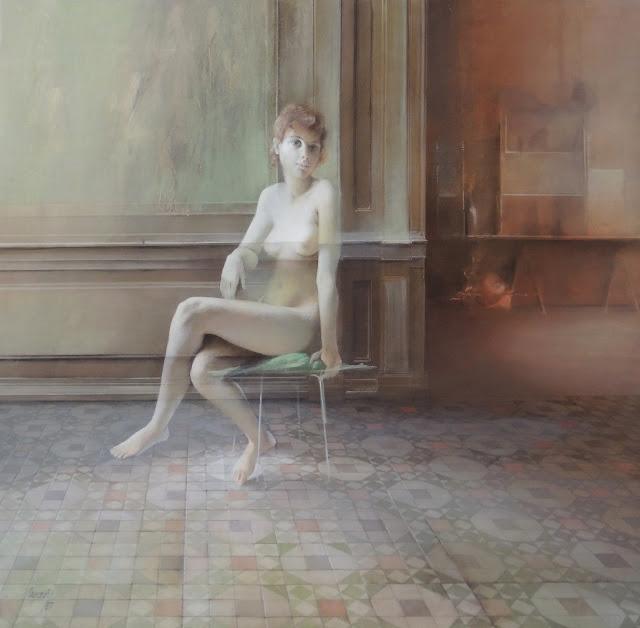 Capozzoli obra arte pintura desnudo