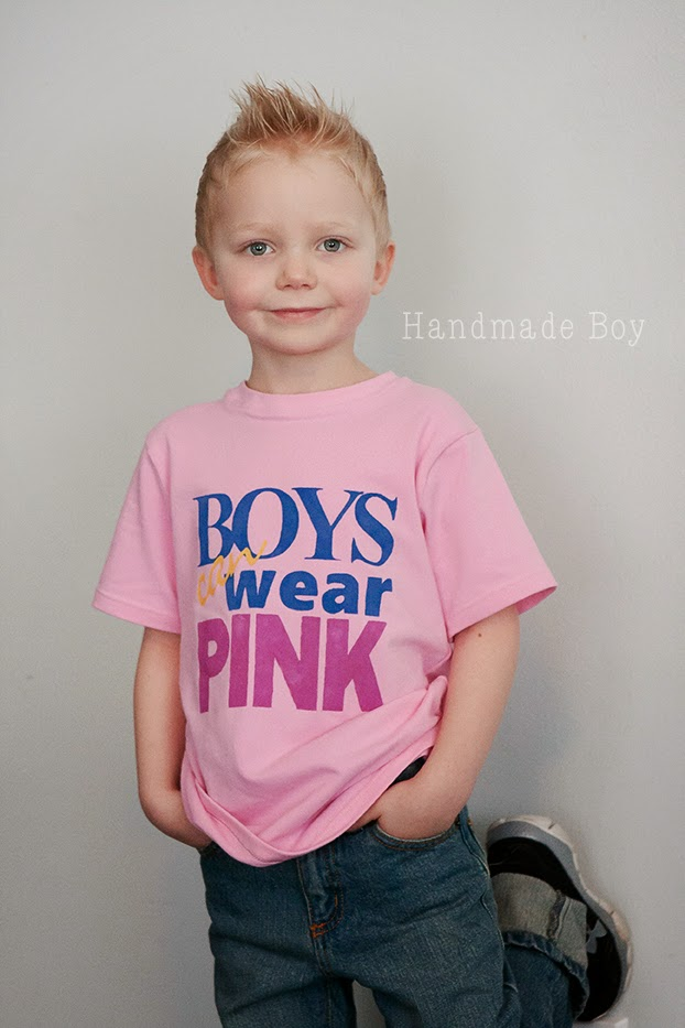 Handmade Boy: Boys CAN Wear Pink Series, a Tutorial and a Giveaway!