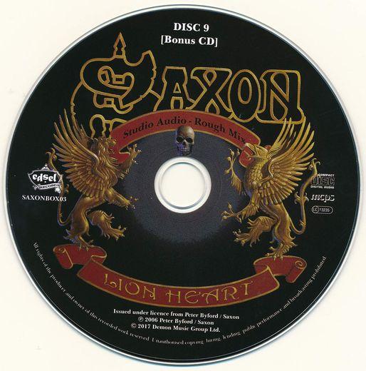SAXON - Solid Book Of Rock; Disc 9 Lionheart +1 [Rough Mix] (2017) disc