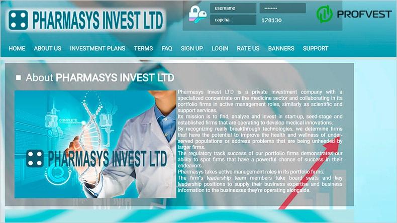 Pharmasys обзор и отзывы HYIP-проекта