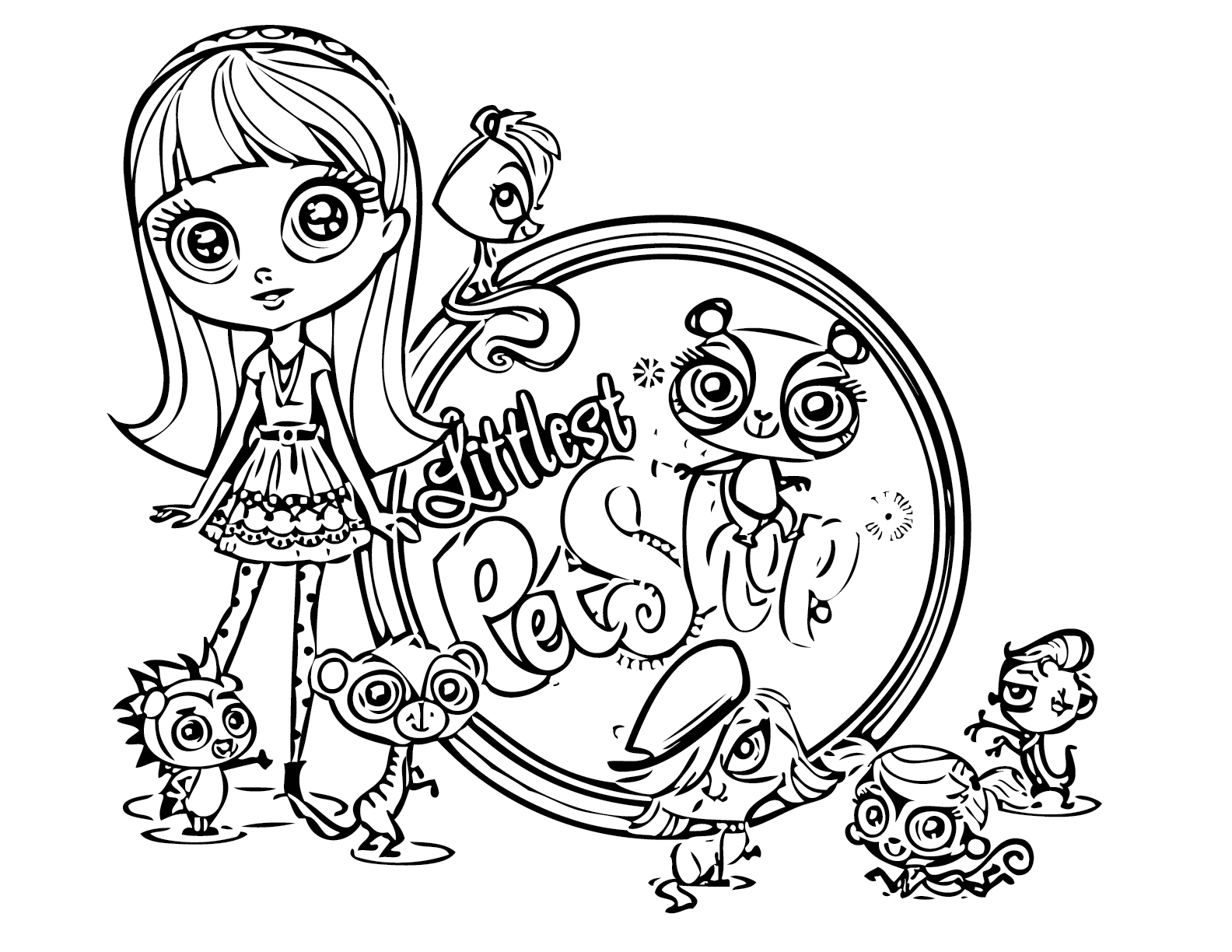Littlest Pet Shop coloring pages - Squid Army