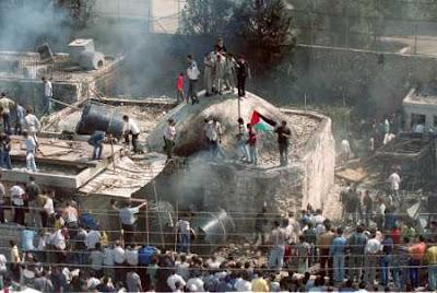 Palestinos queman la Tumba de José