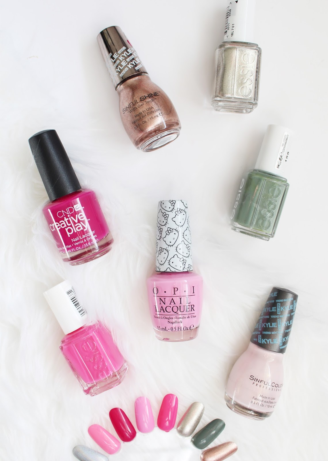 COLLECTIVE NAIL POLISH HAUL | Essie, OPI, CND + Sinful Colors Kylie Collection - CassandraMyee