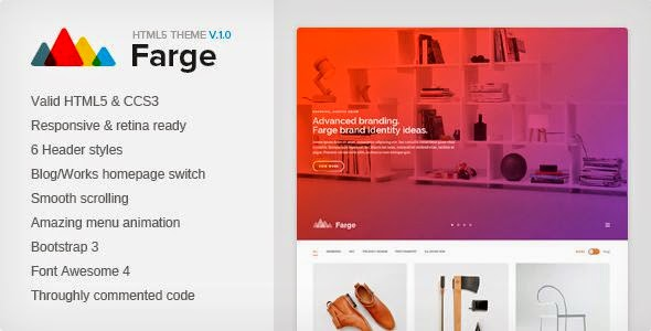 Farge - Creative HTML5 Agency Template