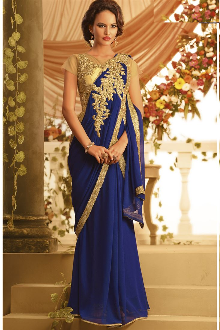 Saree Gown To Impress With Our Event Ideas - Makeup Review And ...