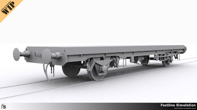 Fastline Simulation: An in production render of a ZEA Bream runner wagon converted from the slightly unsuccessful SSA steel carrying wagons.