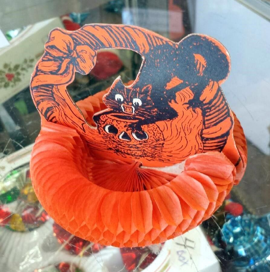 spotted at ebay vintage halloween beistle decoration sold for 246