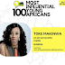 Toke Makinwa Makes it To Top 100 Most Influential People in Africa
