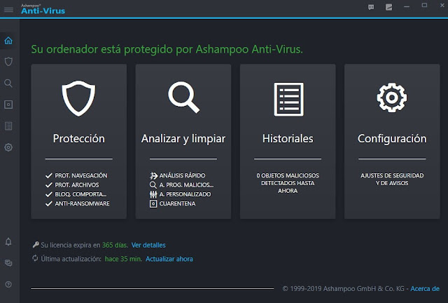 Ashampoo Anti-Virus 2019 full imagenes