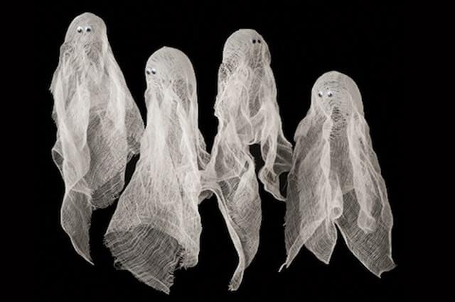 Globos fantasmas con helio y tela