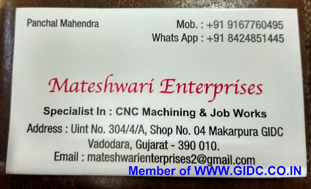 MATESHWARI ENTERPRISES - 9167760495 CNC Turning