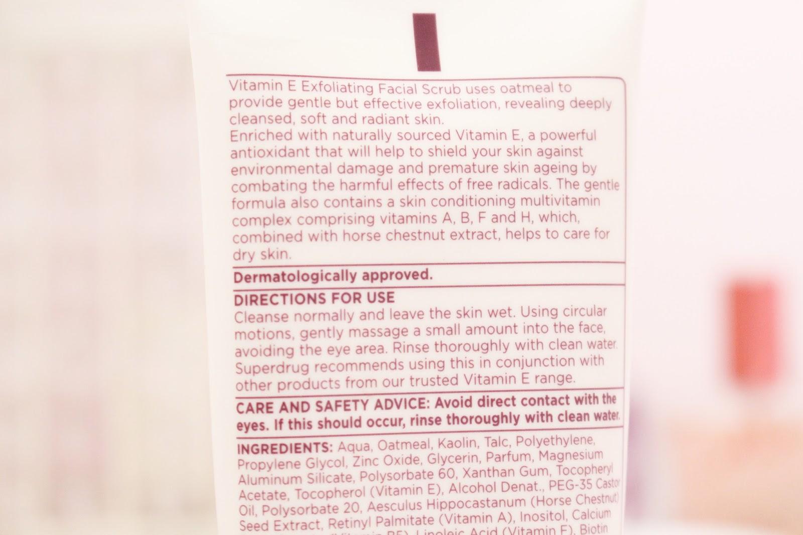 Superdrug Vitamin E Exfoliating Facial Scrub Review