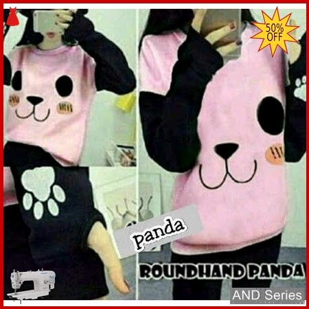 AND113 Sweater Wanita Roundhand Panda Pink BMGShop