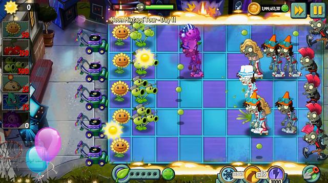 تحميل لعبة Plants vs Zombies 2 مهكرة للأندرويد