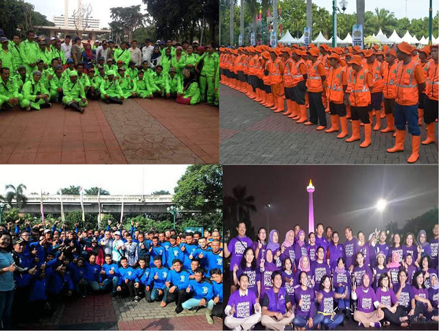 Pasukannya Ahok Tambah Banyak, Ada Pasukan Oranye, Hijau, Ungu, dan Biru Siap Bekerja untuk Jakarta