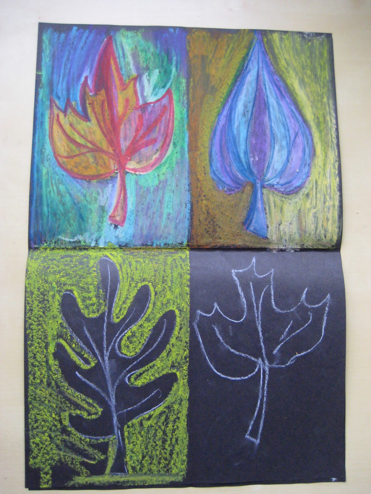 Pink And Green Mama: * Fall Fun: Art Lesson With Warm And