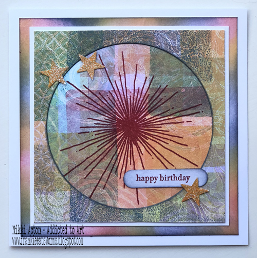 Stamping on Gelli Plate / Gel Press - by Nikki Acton