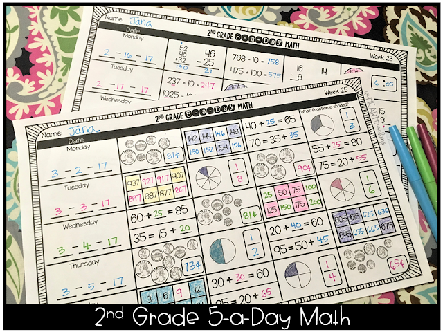 https://www.teacherspayteachers.com/Product/5-a-Day-Math-2nd-Grade-Daily-Spiral-Math-Review-Full-Year-2006757?aref=q8s3mf87
