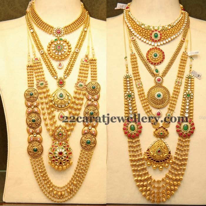Complete Antique Gold Wedding Jewelry Jewellery Designs