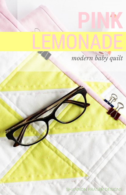 Pink Lemonade | Q1 2018 Finish-A-Long Quilt Projects | Shannon Fraser Designs | Modern Quilting | WIP | Quilt Patterns | Modern Baby Quilt