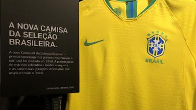 7e18fc5c82 NOVAS CAMISAS DA SELEÇÃO BRASILEIRA SÃO SUCESSO DE VENDAS