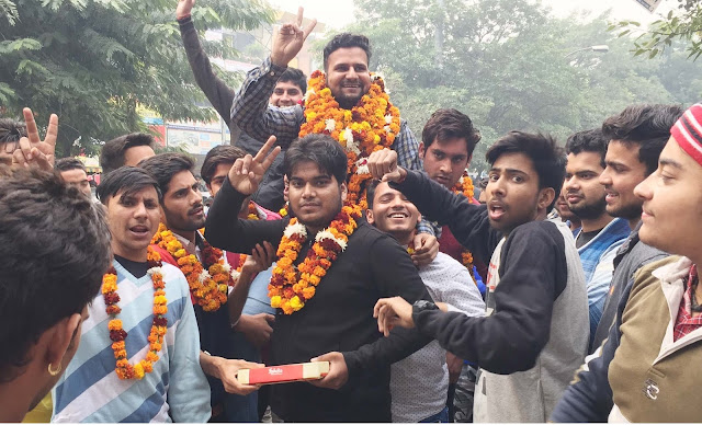 Welcoming Krishna Atri to the office of NSUI Haryana Pradesh Secretary