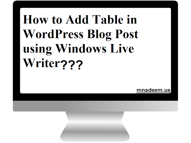 Add table in WordPress Blog Post