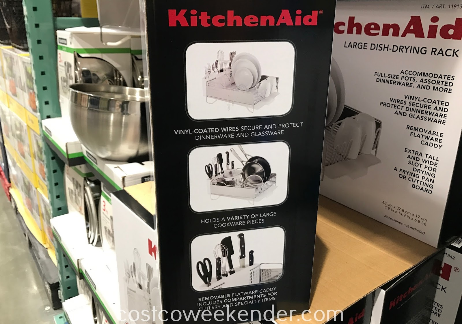 KitchenAid Large Dish-Drying Rack has enough room for all your dishes