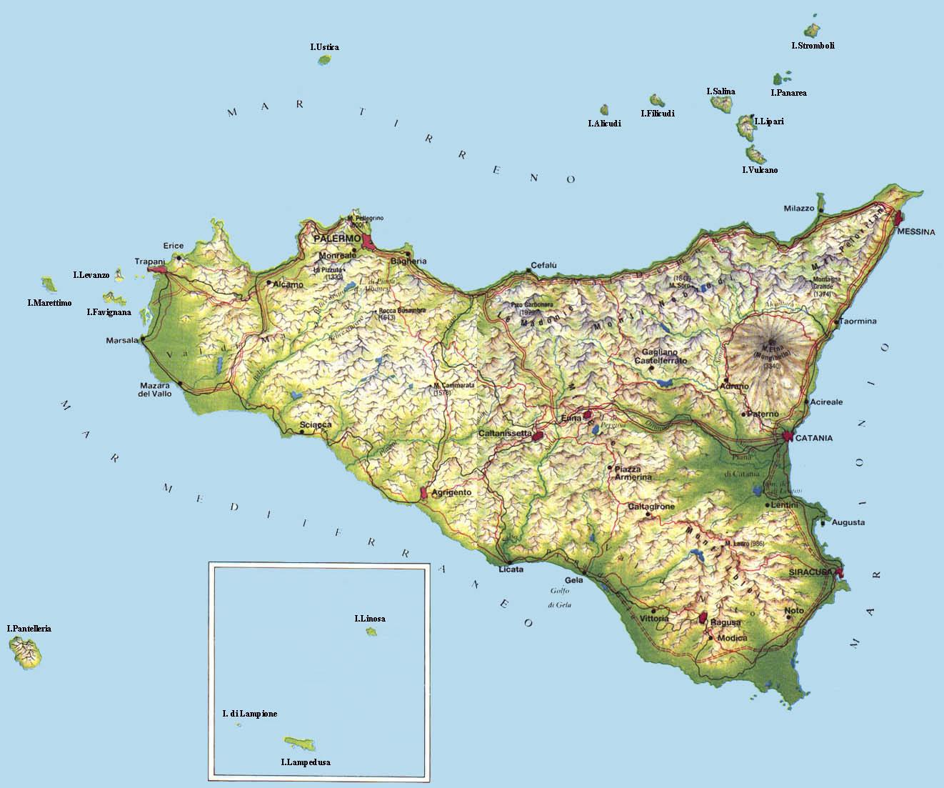 Cartina Sicilia Pozzallo