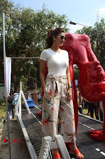 Shilpa Shetty Pictures at Yoga Posed Statue Inauguration