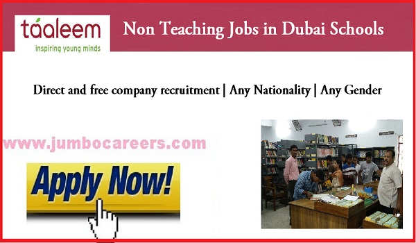 Data Manager jobs in Dubai, Non teaching staff jobs in Dubai for Indians,