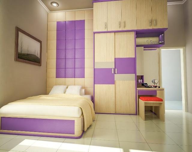 kamar tidur minimalis ukuran 3x3
