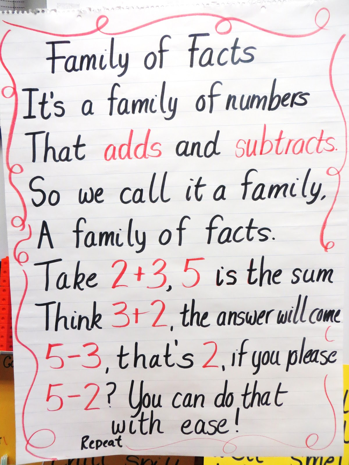 First Grade Wow Life Size Fact Family Practice
