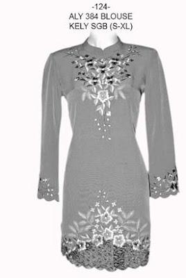 Kreasi Model Baju Muslim Bordir Modern Terbaru