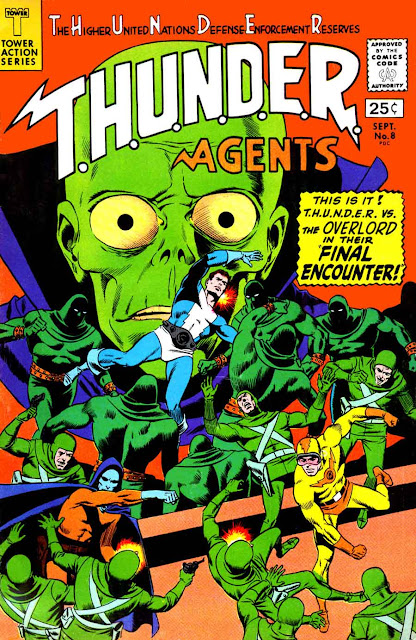 Thunder Agents v1 #8 tower silver age 1960s comic book cover art by Wally Wood