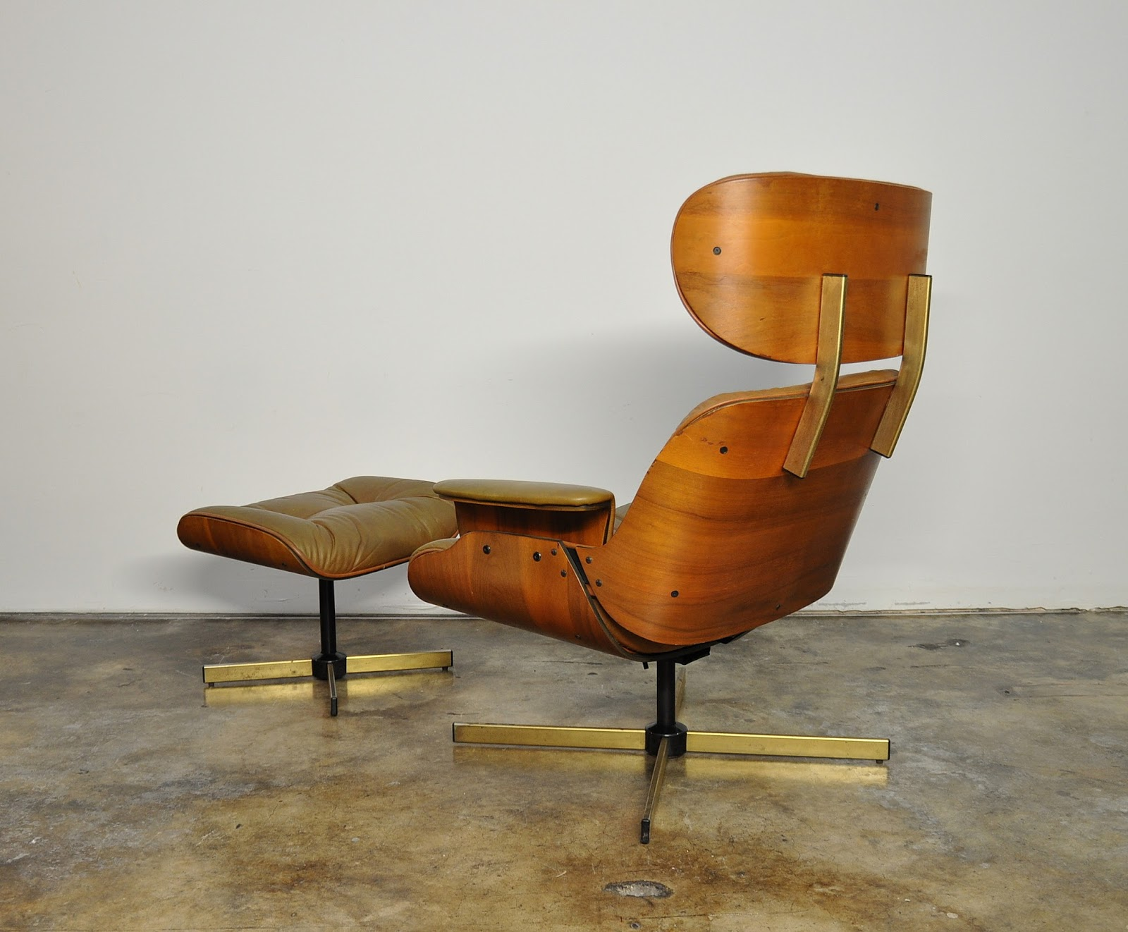 Selig Plycraft Lounge Chair Parts Full Of Bowlies Select Modern Frank Doerner Eames Style Leather