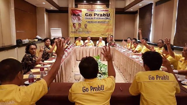 Deklarasi Go PrabU, Caleg Golkar Melawan