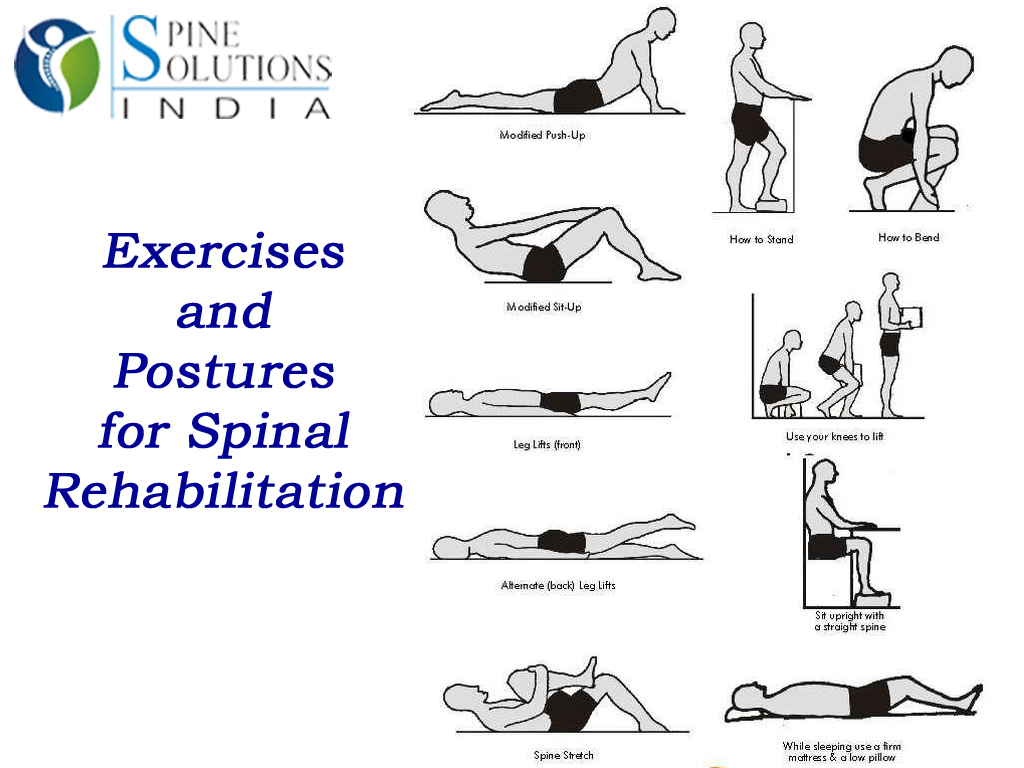 Therapeutic exercises for the spine