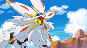 Pokemon Sol y Luna Capitulo 52 Temporada 20 Altar del sol Solgaleo desciende