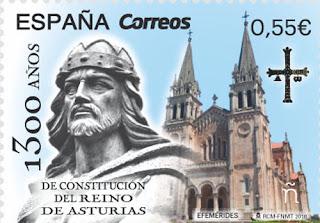 Sello del 1300 aniversario del Reino de Asturias