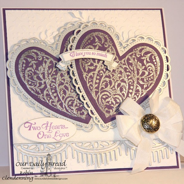 Bird Cage & Banners, Ornate Hearts, Fancy Foliage Die sets