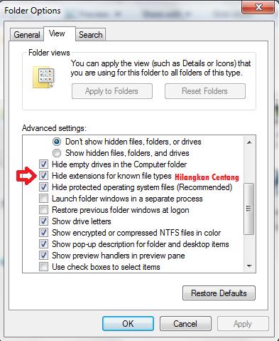 Cara melihat Format file dan mengenal format file   Lombong Ilmu