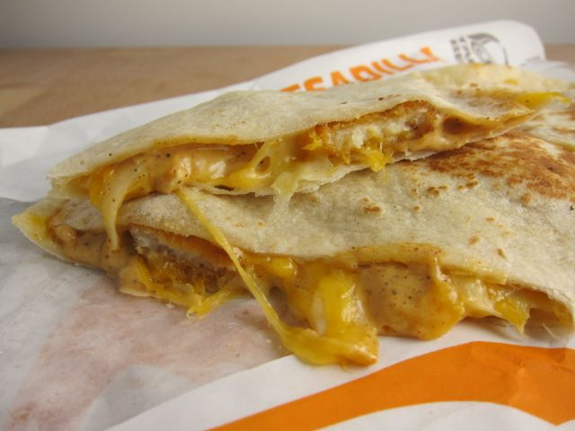 Review Taco Bell - Crispy Chicken Quesadilla  Brand Eating-6589
