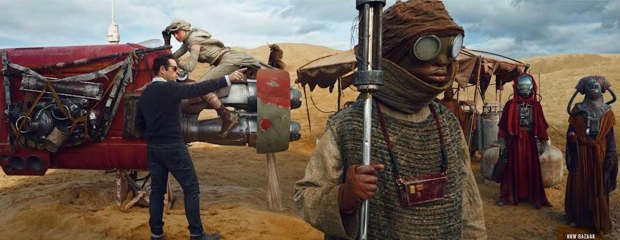 Imagen del rodaje de Star Wars: El despertar de la Fuerza.