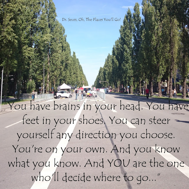 You have brains in your head. You have feet in your shoes. You can steer yourself any direction you choose. You´re on your own. And you know what you know. And YOU are the one who´ll decide where to go... - Dr. Seuss, Oh, The Places You´ll Go