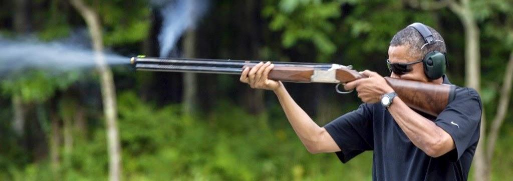 obama shooting rifle