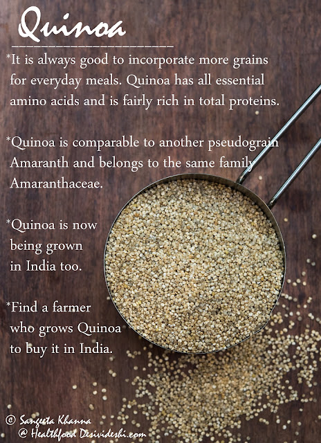 Quinoa from Indian farmers : 3 recipes using Indian Quinoa